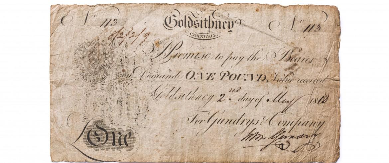 Cornish Pound Note