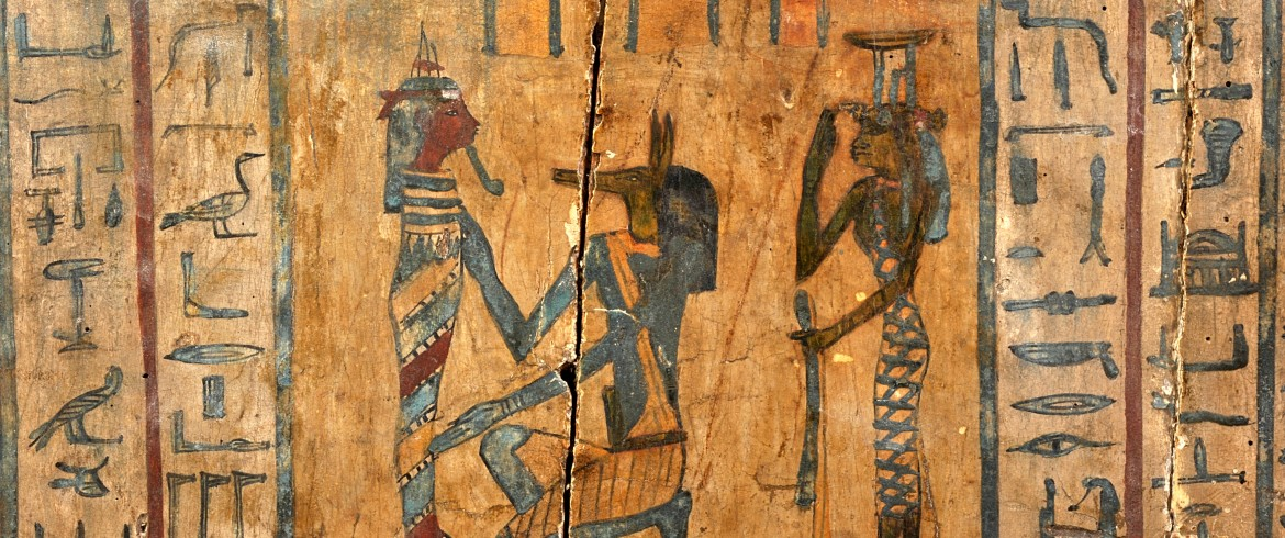 Detail from outer coffin, Egyptian