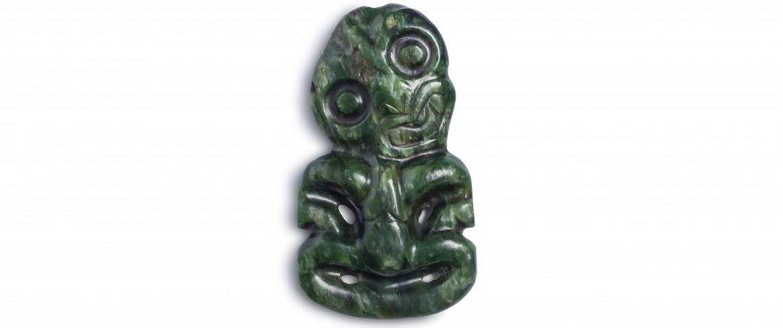 Heitiki (neck pendant), Maori, mid-19th century