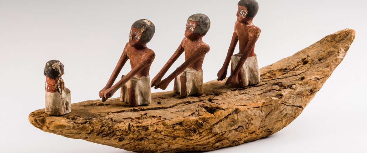 Model of reed funerary boat, Egyptian
