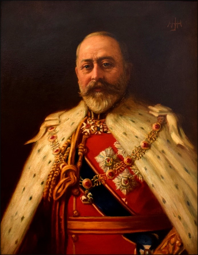 Portrait of His Majesty, King Edward VII, by Henry John Hudson in 1902.
