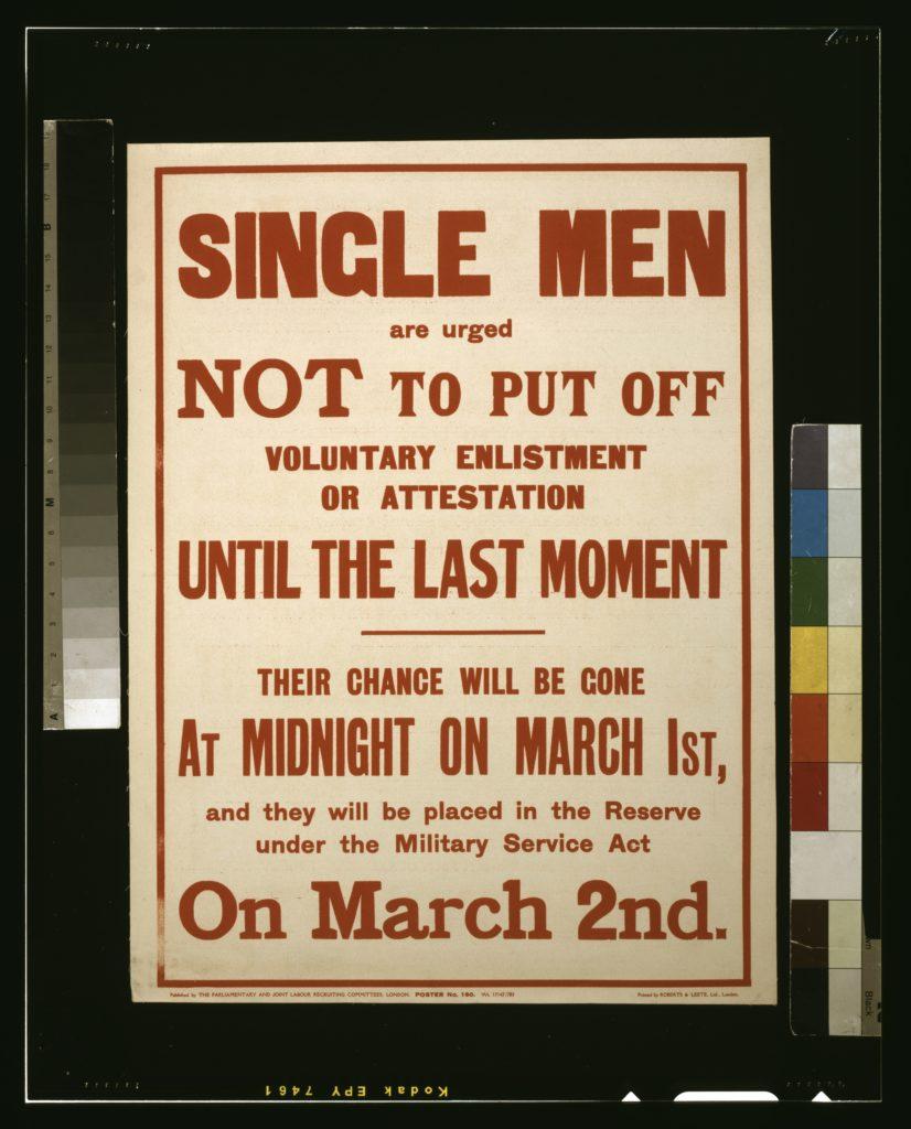 Conscription poster, 1916.